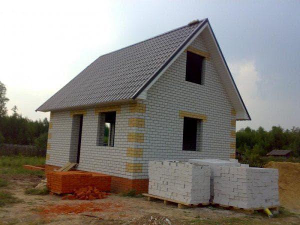 дачный дом из пеноблоков 6х6