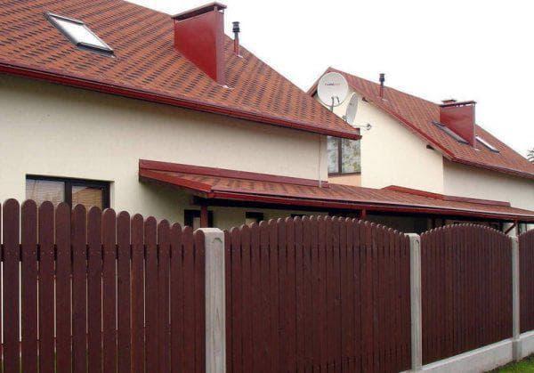 деревянный забор из штакетника для частного дома