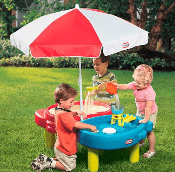 стол песочница с зонтом