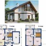 Обзор типовых проектов домов из пеноблоков