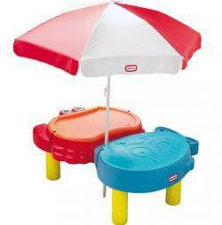 песок и зонтик