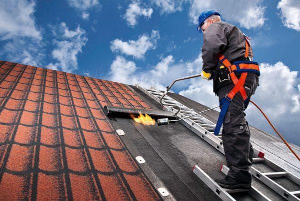рубероид для крыши на кирпичном доме