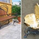 Обзор скамеек из металла и дерева для дачи