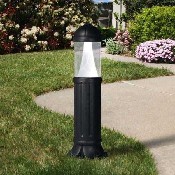 наземный уличный светильник с одним светильником