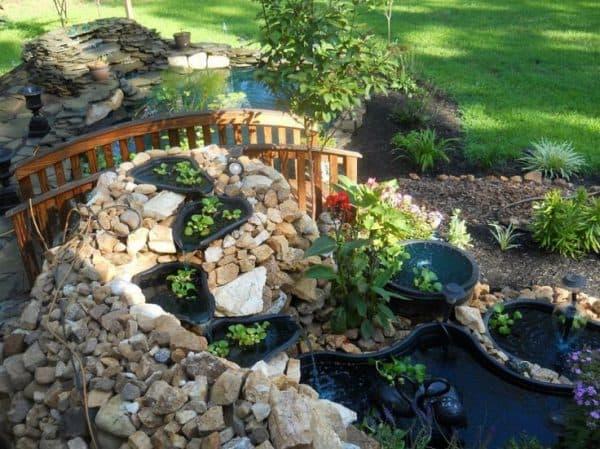 ландшафтный дизайн пруда без мостика