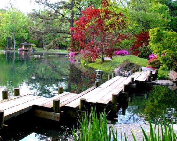 планировка водоёма по японскому стилю