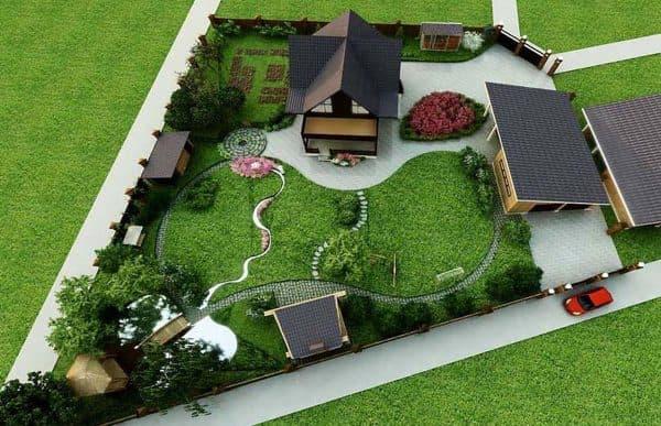 планировка участка для ландшафтного дизайна